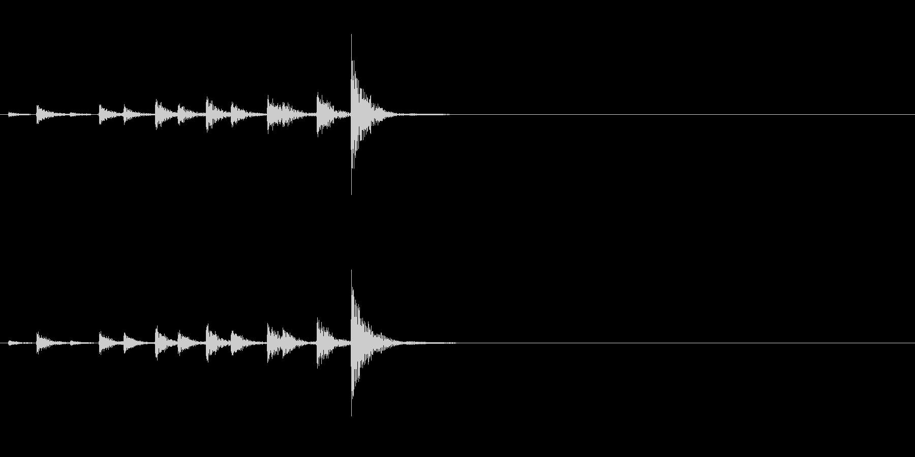 相撲などの触れ太鼓「大拍子」の連続音1の未再生の波形