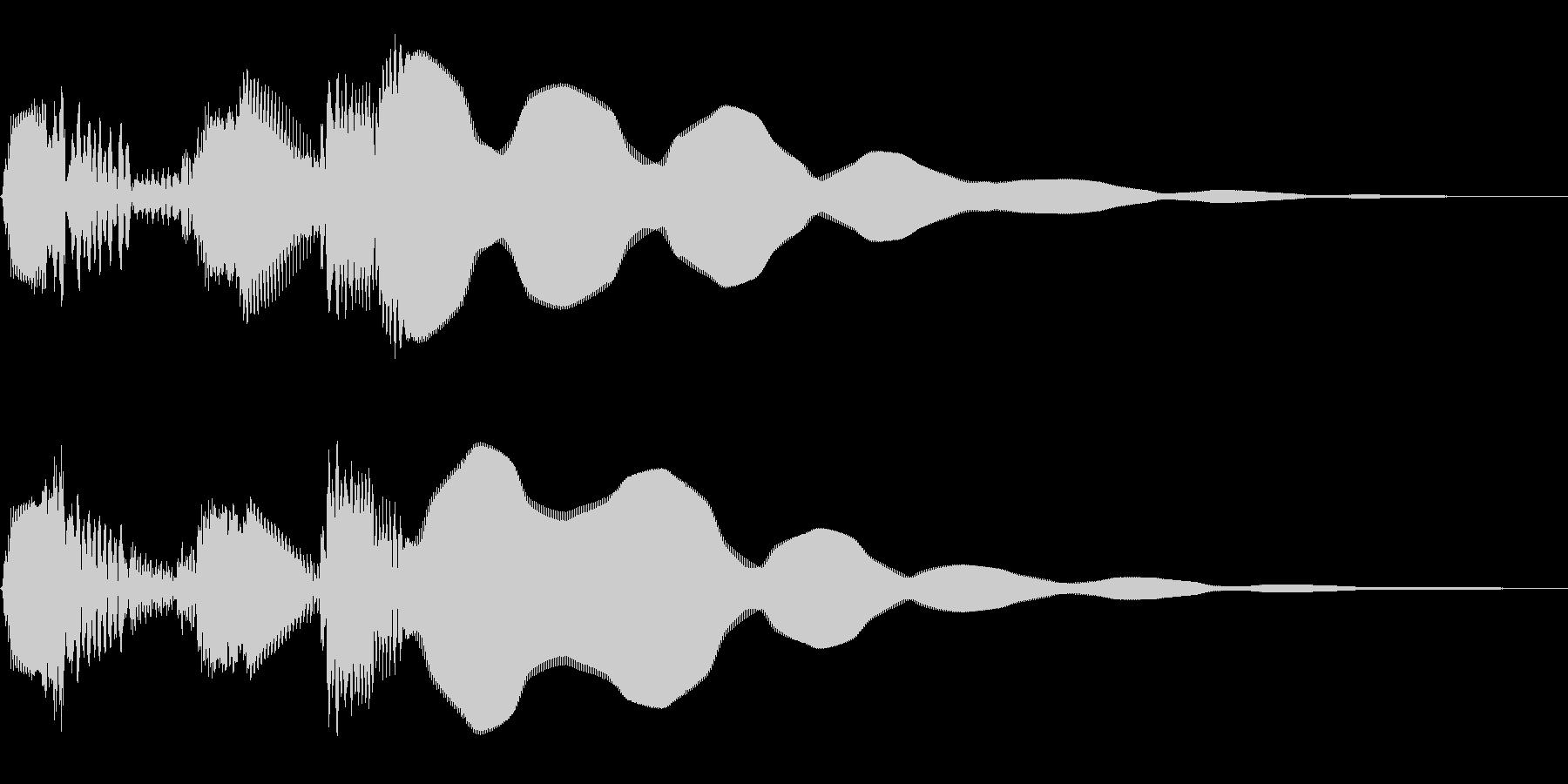 ボタン押下や決定音。キュルピーン!の未再生の波形