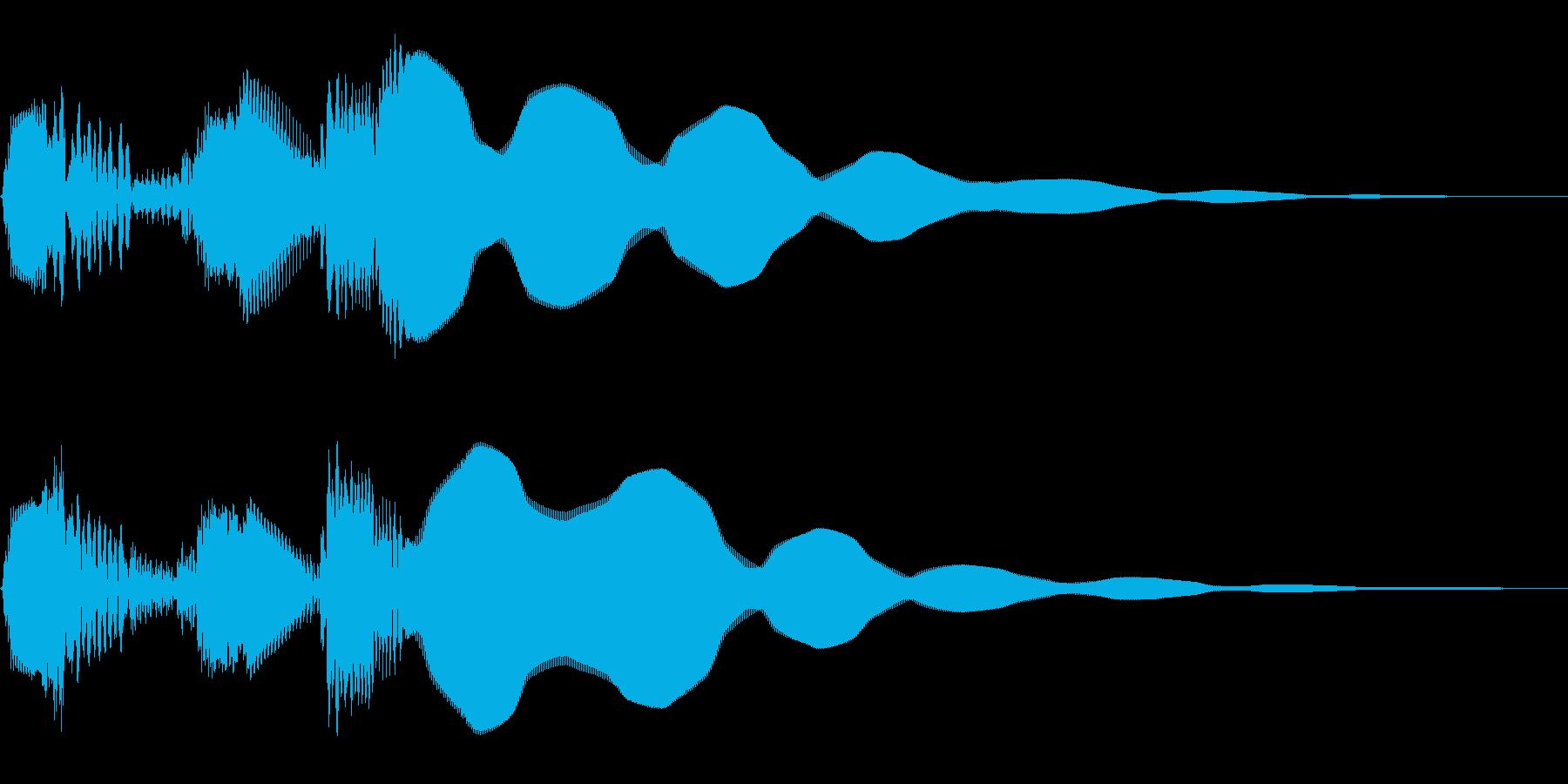 ボタン押下や決定音。キュルピーン!の再生済みの波形