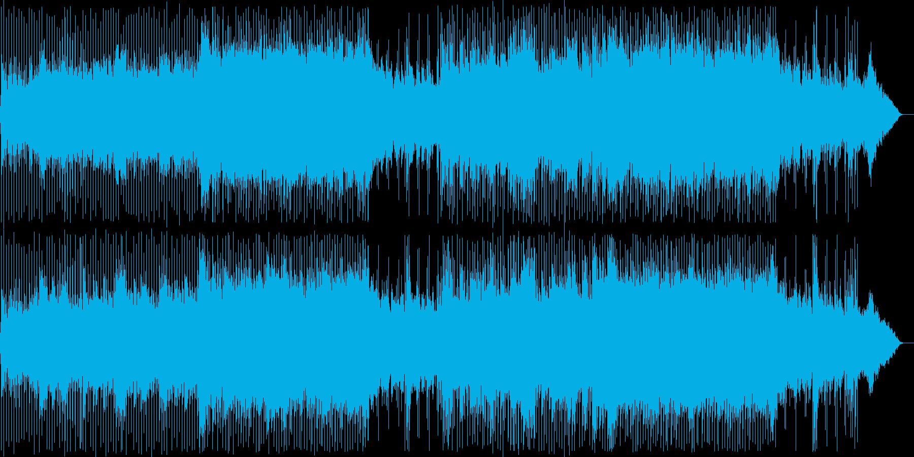 未来・希望・力強いポジティブな曲の再生済みの波形