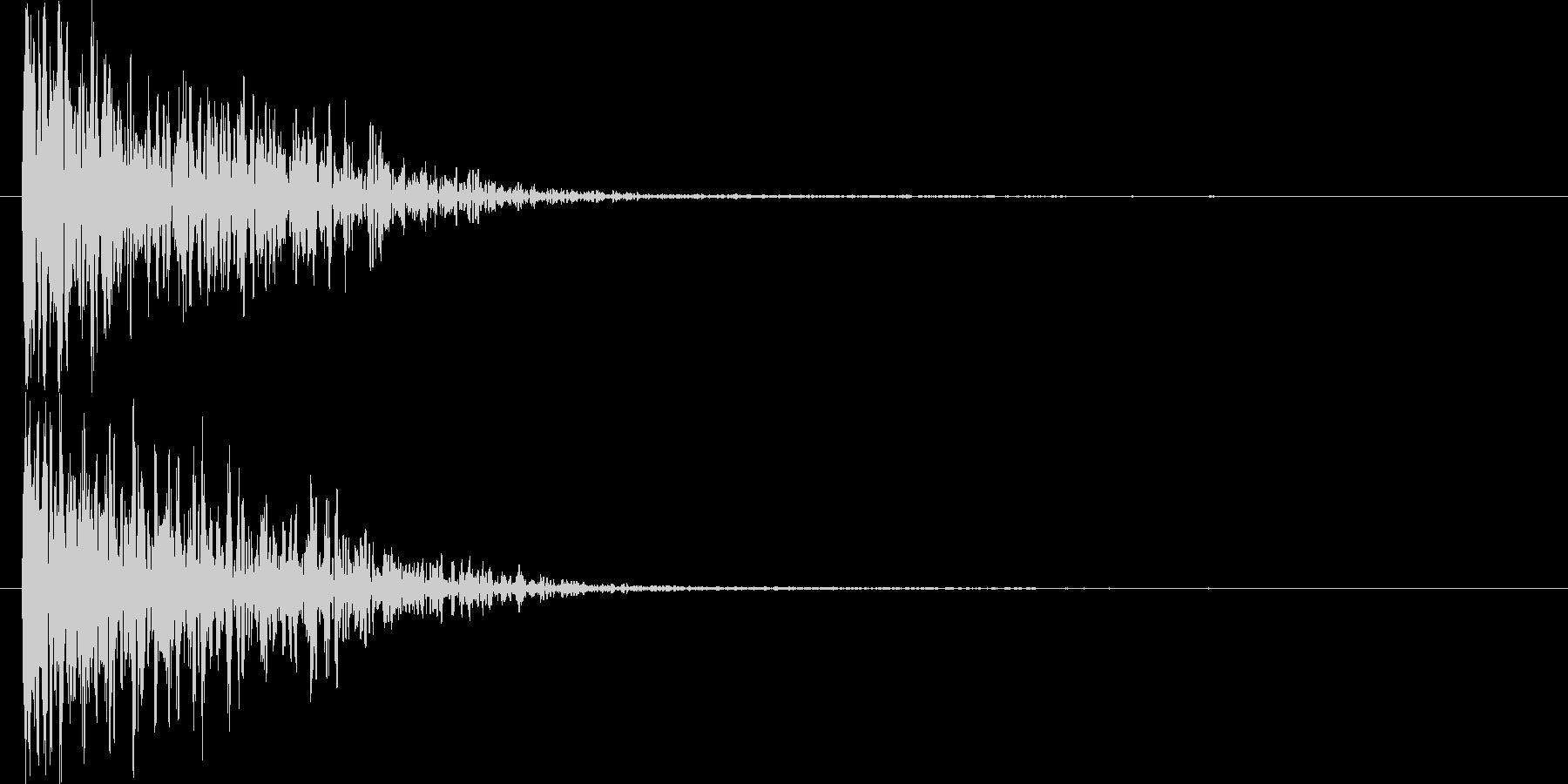 低音のメタルアタックの未再生の波形