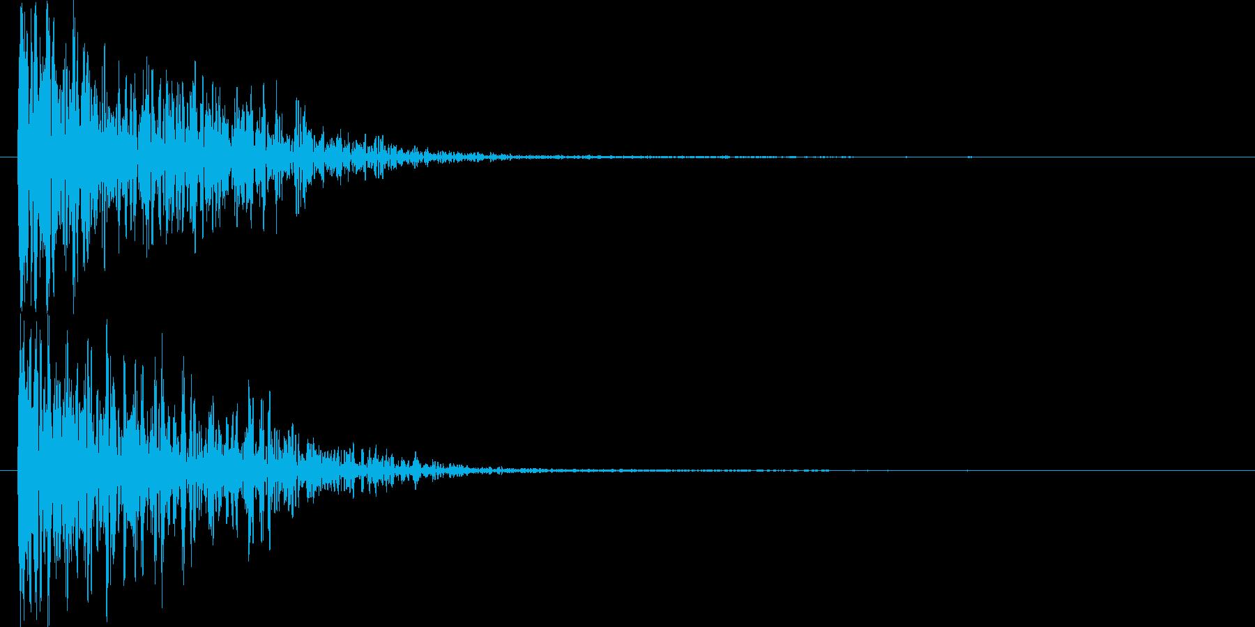 低音のメタルアタックの再生済みの波形
