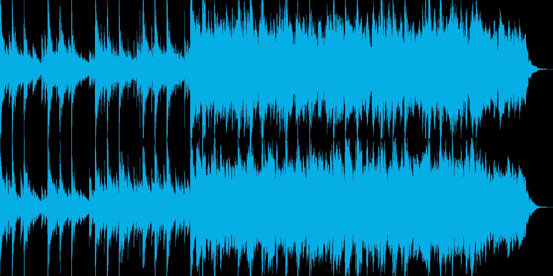 得体の知れない事が起きている時の曲の再生済みの波形