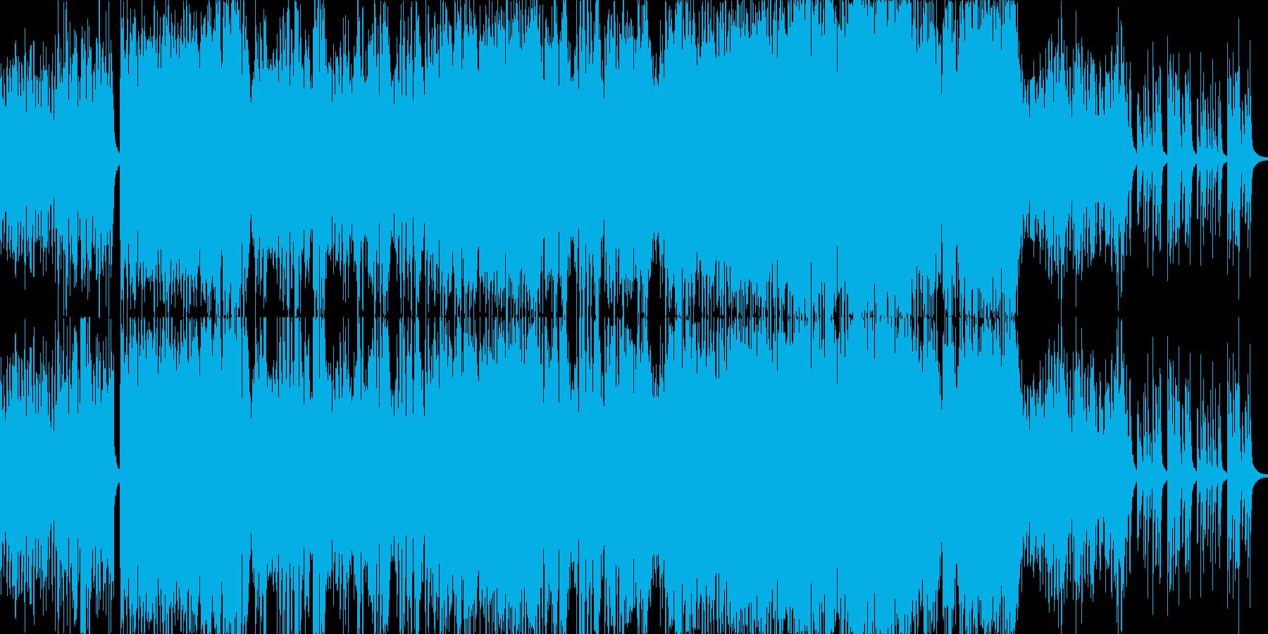 幻想的でキラキラしたポップスの再生済みの波形