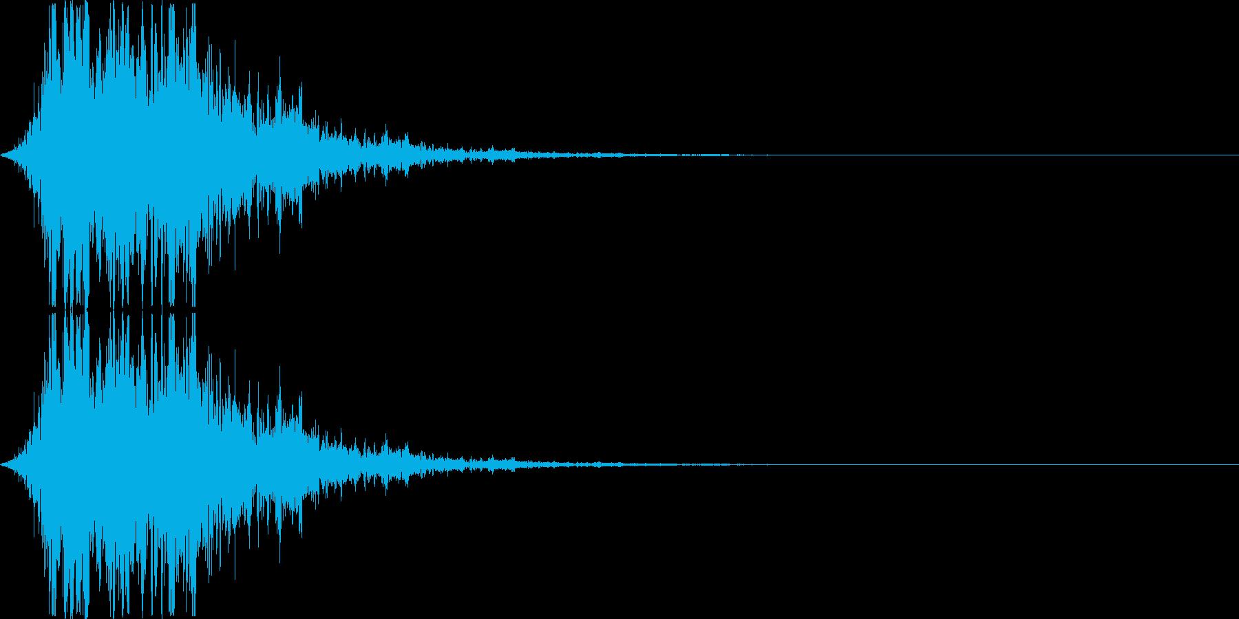 アニメにありそうなシュインシュイン(単音の再生済みの波形