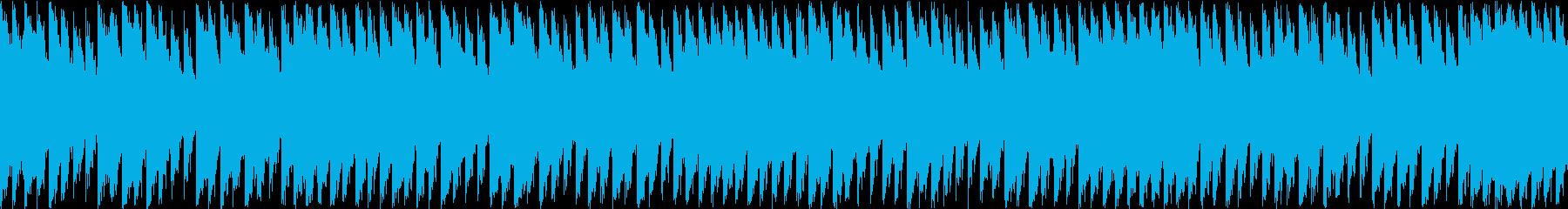 怒悲冷酷な旋律のループシンセピアノダンスの再生済みの波形