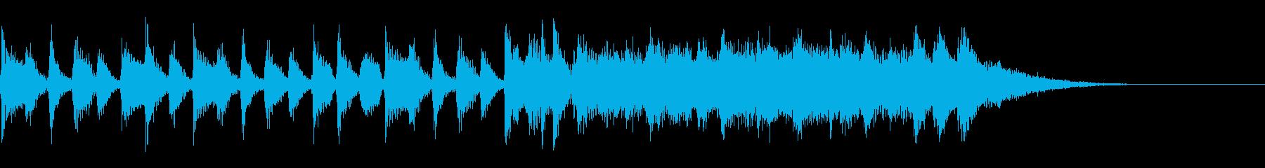 ニュースオープニングの再生済みの波形