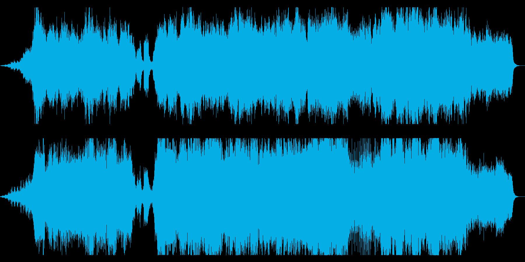 ダークファンタジーなBGM コーラス抜きの再生済みの波形
