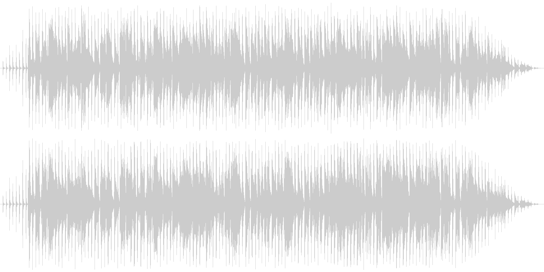 明るい感じのラグタイムピアノの未再生の波形