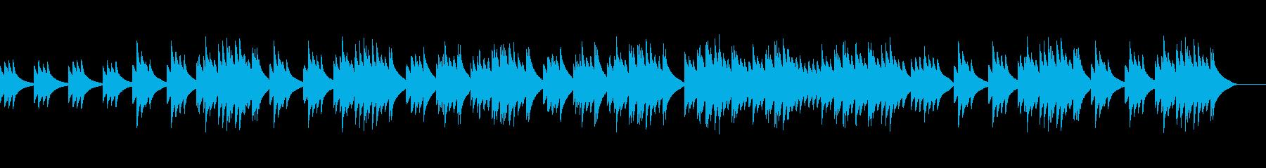ちょっとせつないオルゴール風の曲の再生済みの波形