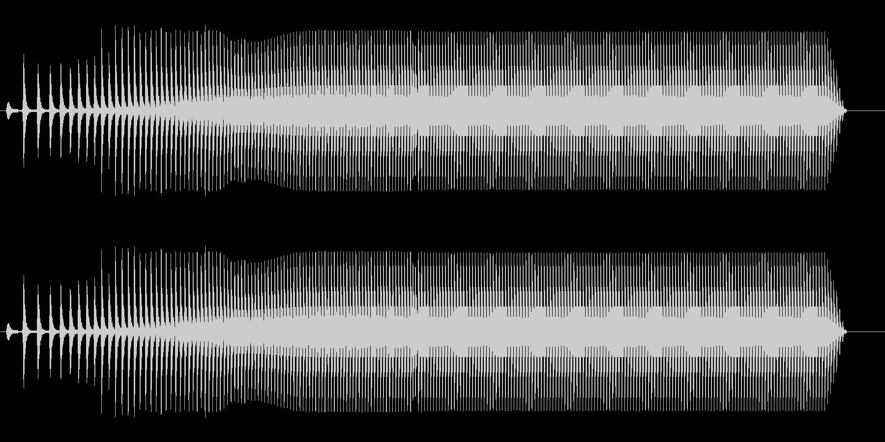 ウィィィィ〜ンという効果音の未再生の波形