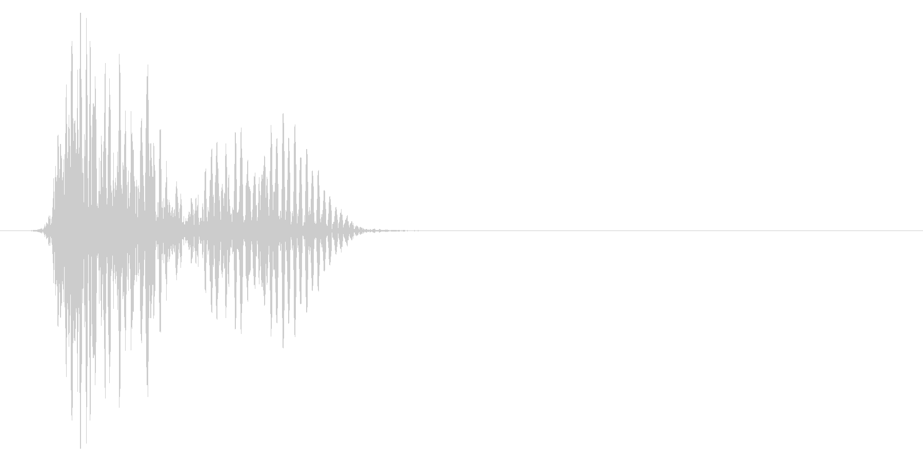 ゲーム掛け声ゾンビ1オオ?1の未再生の波形
