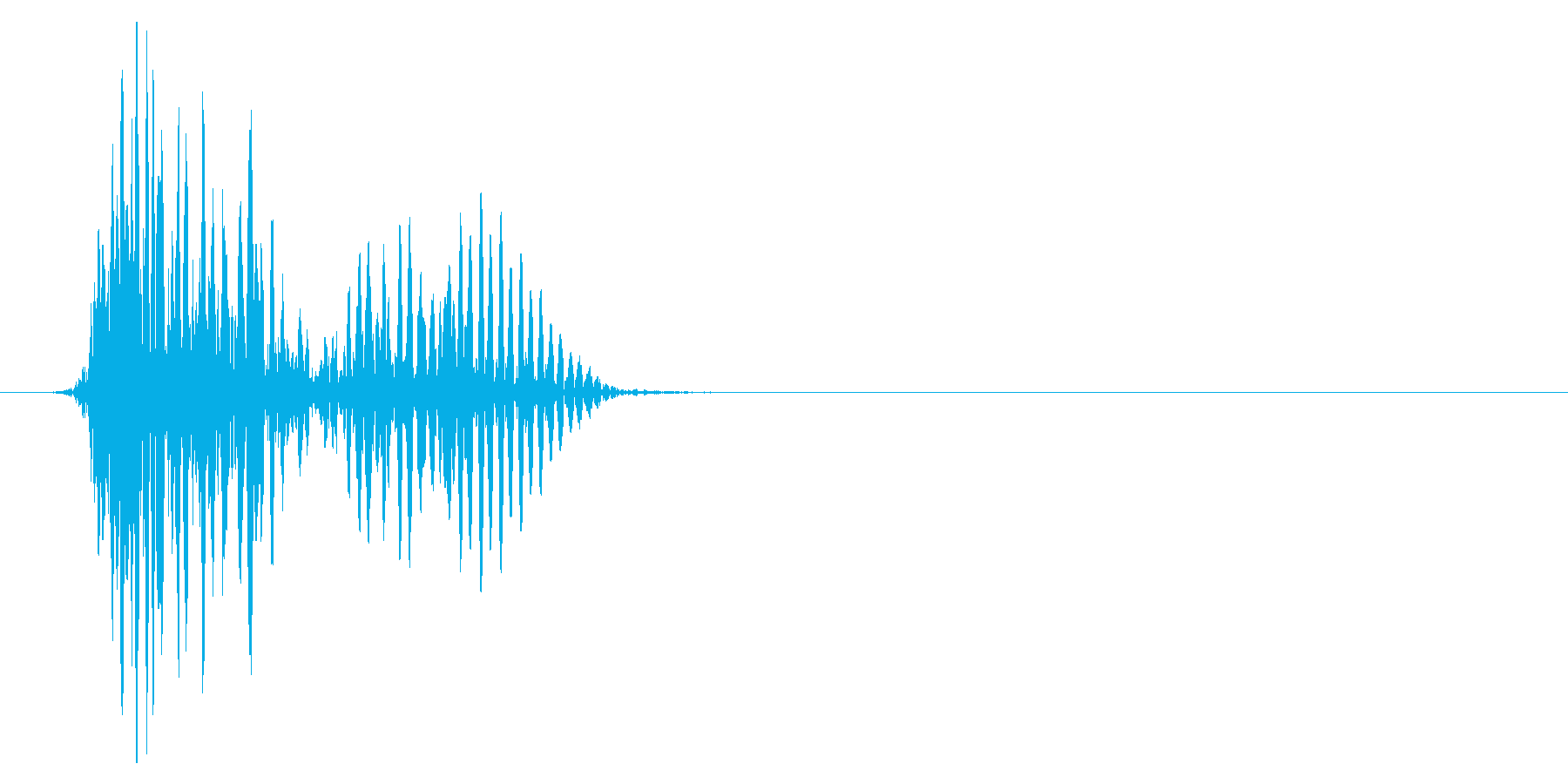 ゲーム掛け声ゾンビ1オオ?1の再生済みの波形