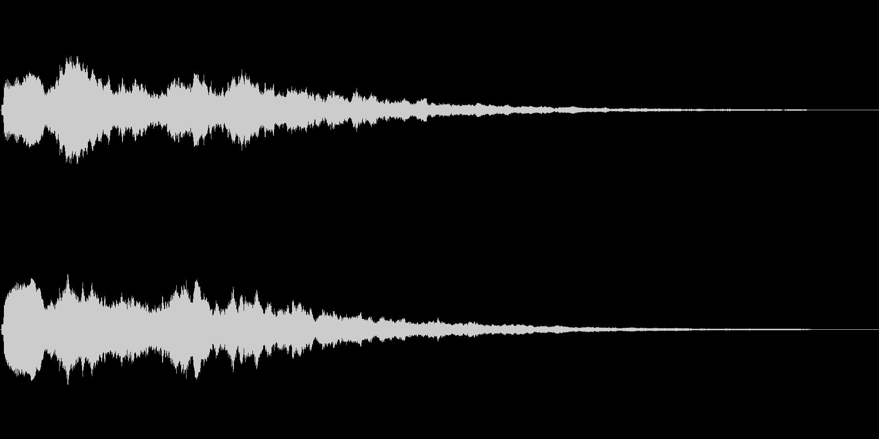 大きなキラキラ系 シンプルなフレーズ音の未再生の波形