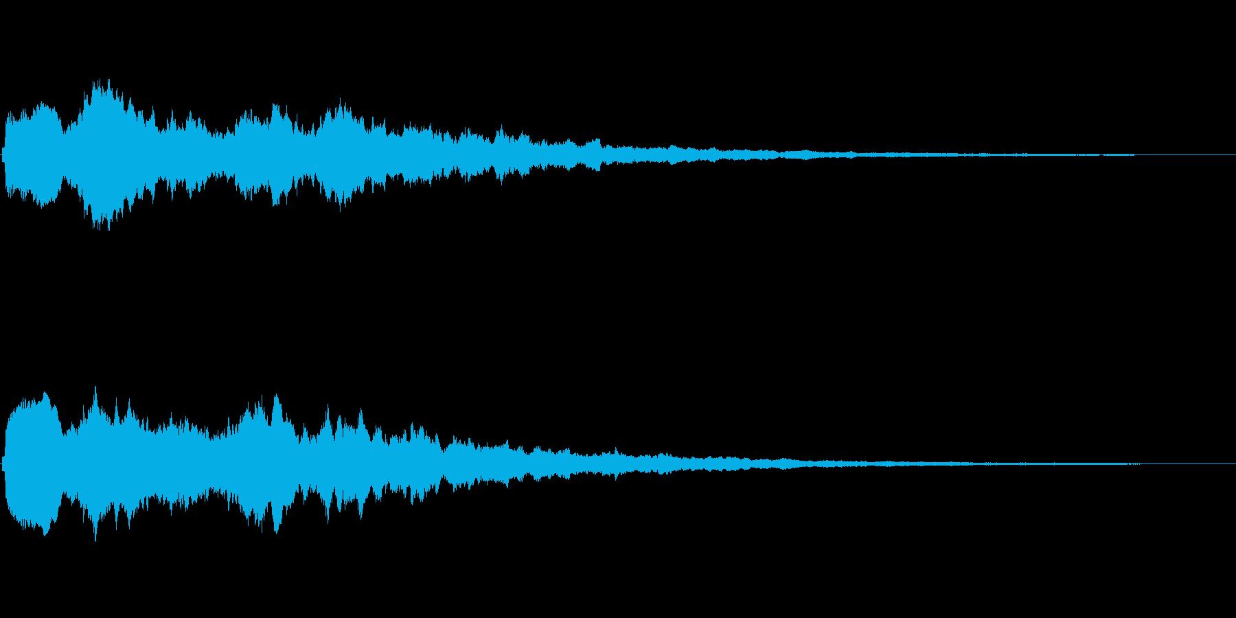 大きなキラキラ系 シンプルなフレーズ音の再生済みの波形