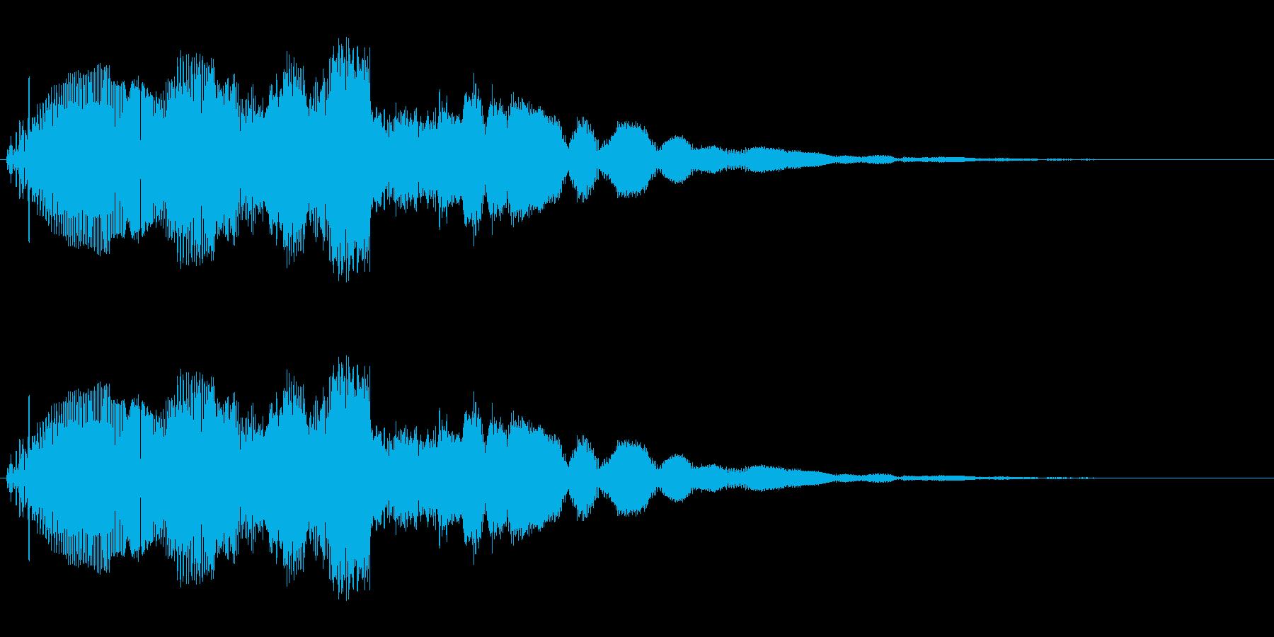 キランというかわいい音です。の再生済みの波形