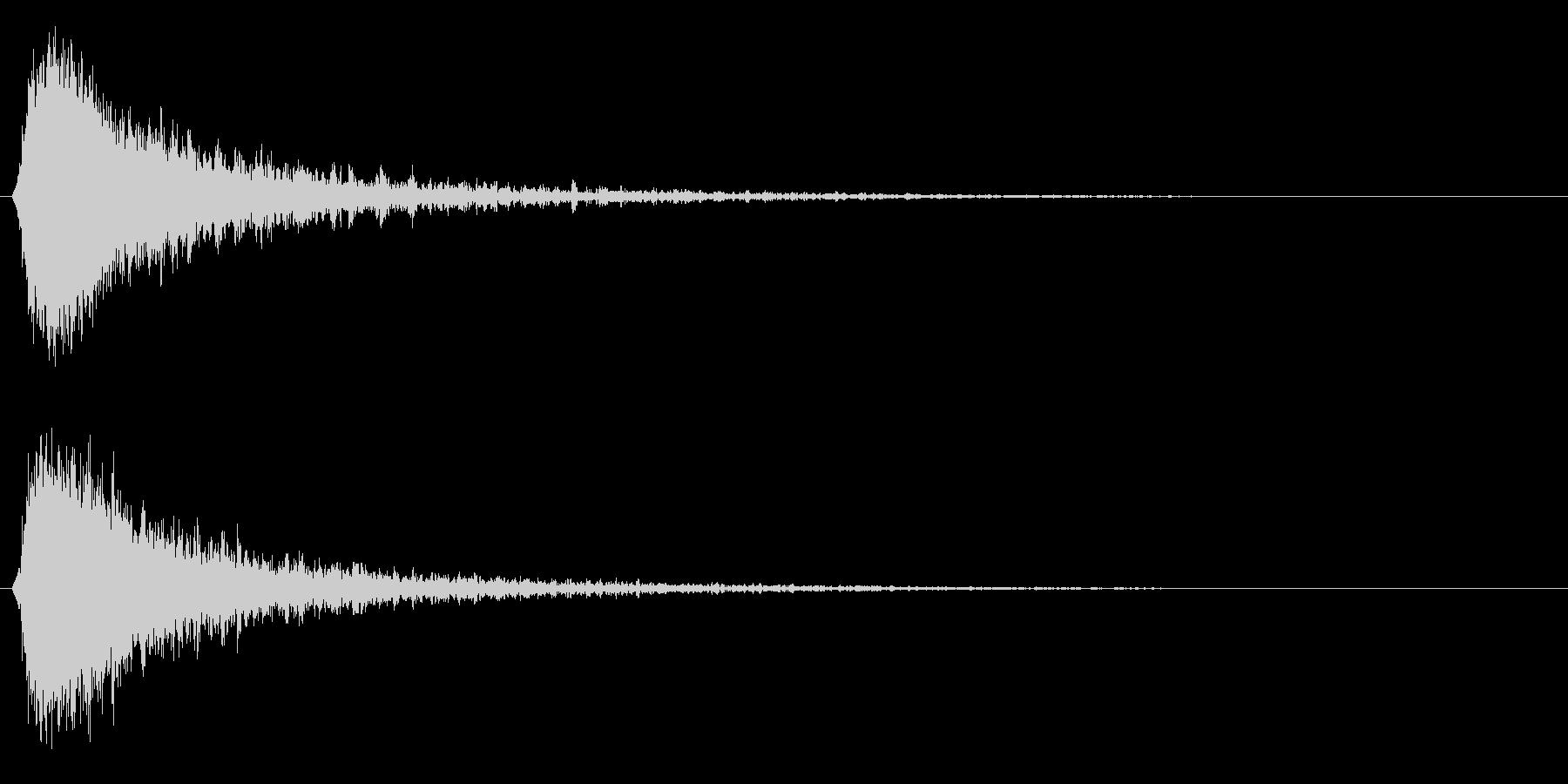 シャキーン!強烈なインパクト効果音3BVの未再生の波形