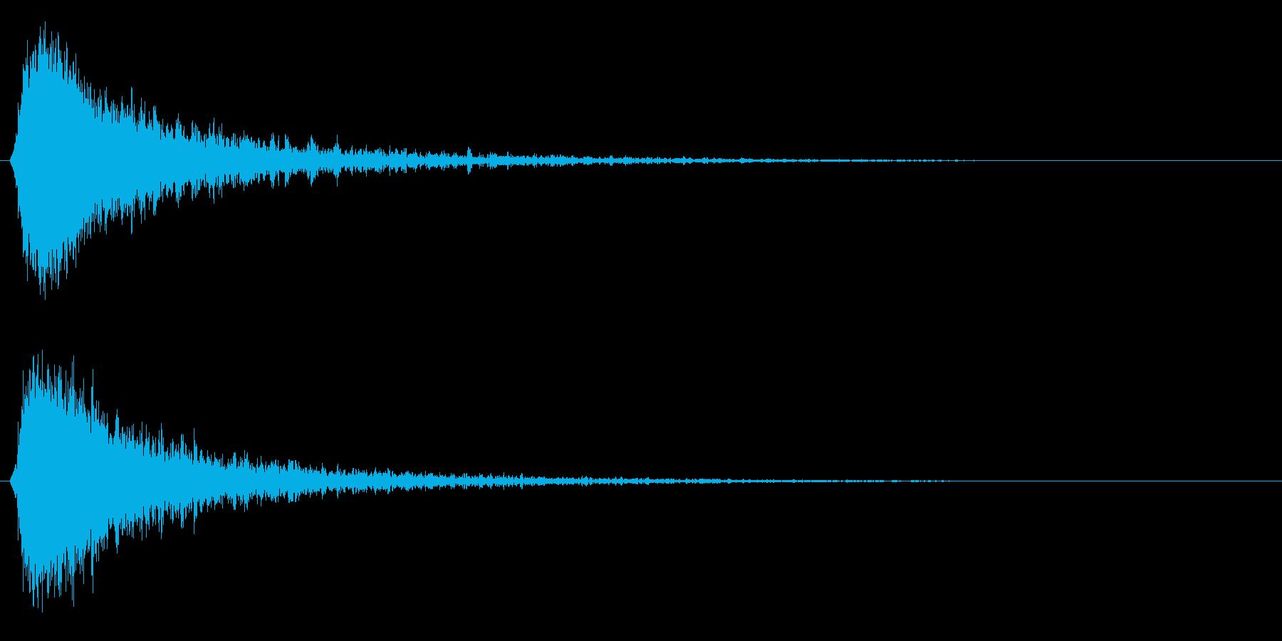 シャキーン!強烈なインパクト効果音3BVの再生済みの波形