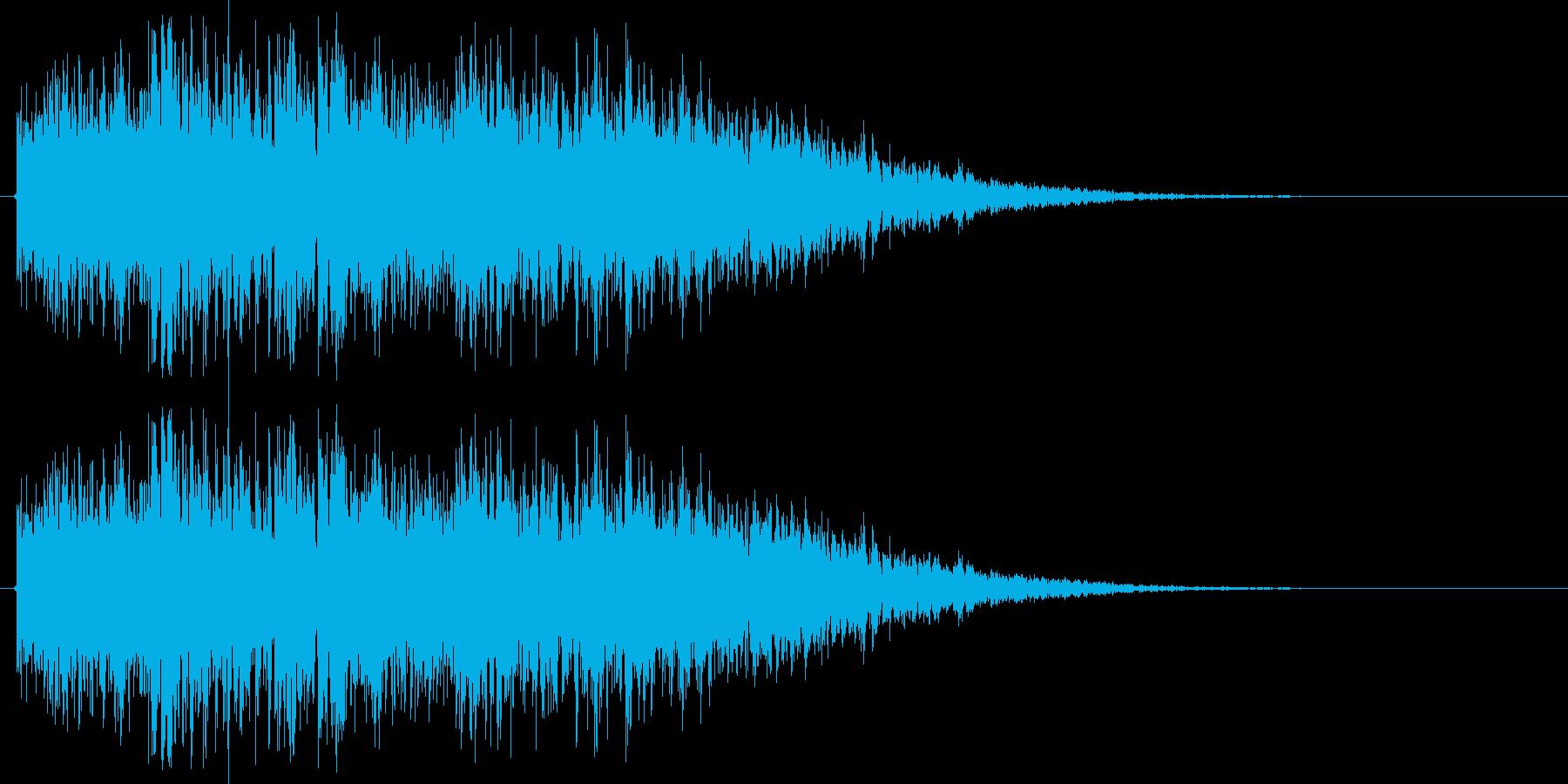 ロボが合体や変形する音(ガキンガキン)の再生済みの波形