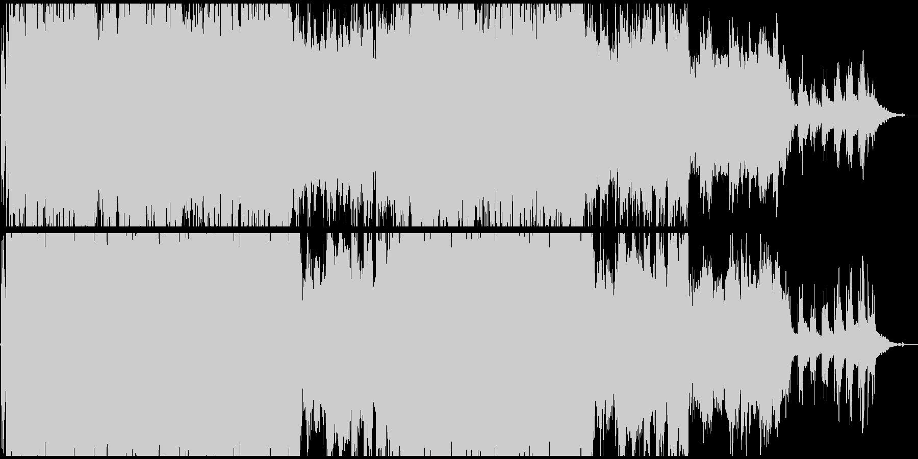 ミドル~アップ美しいピアノとストリングスの未再生の波形