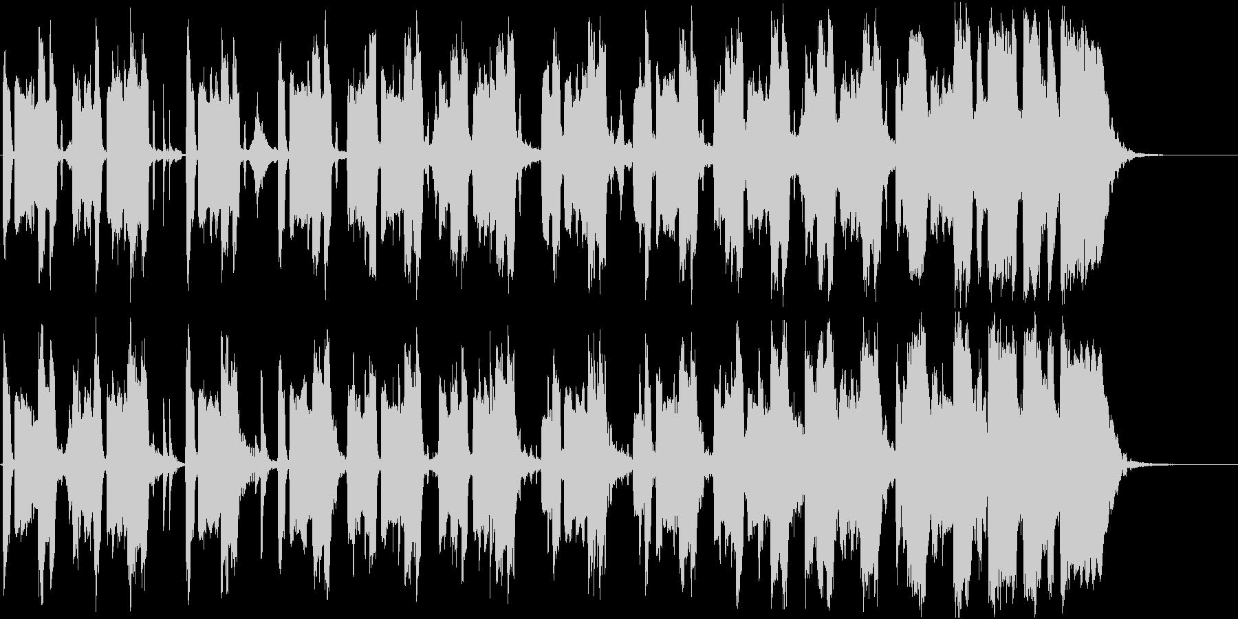 コミカルですっとぼけた、ほのぼの系劇伴の未再生の波形