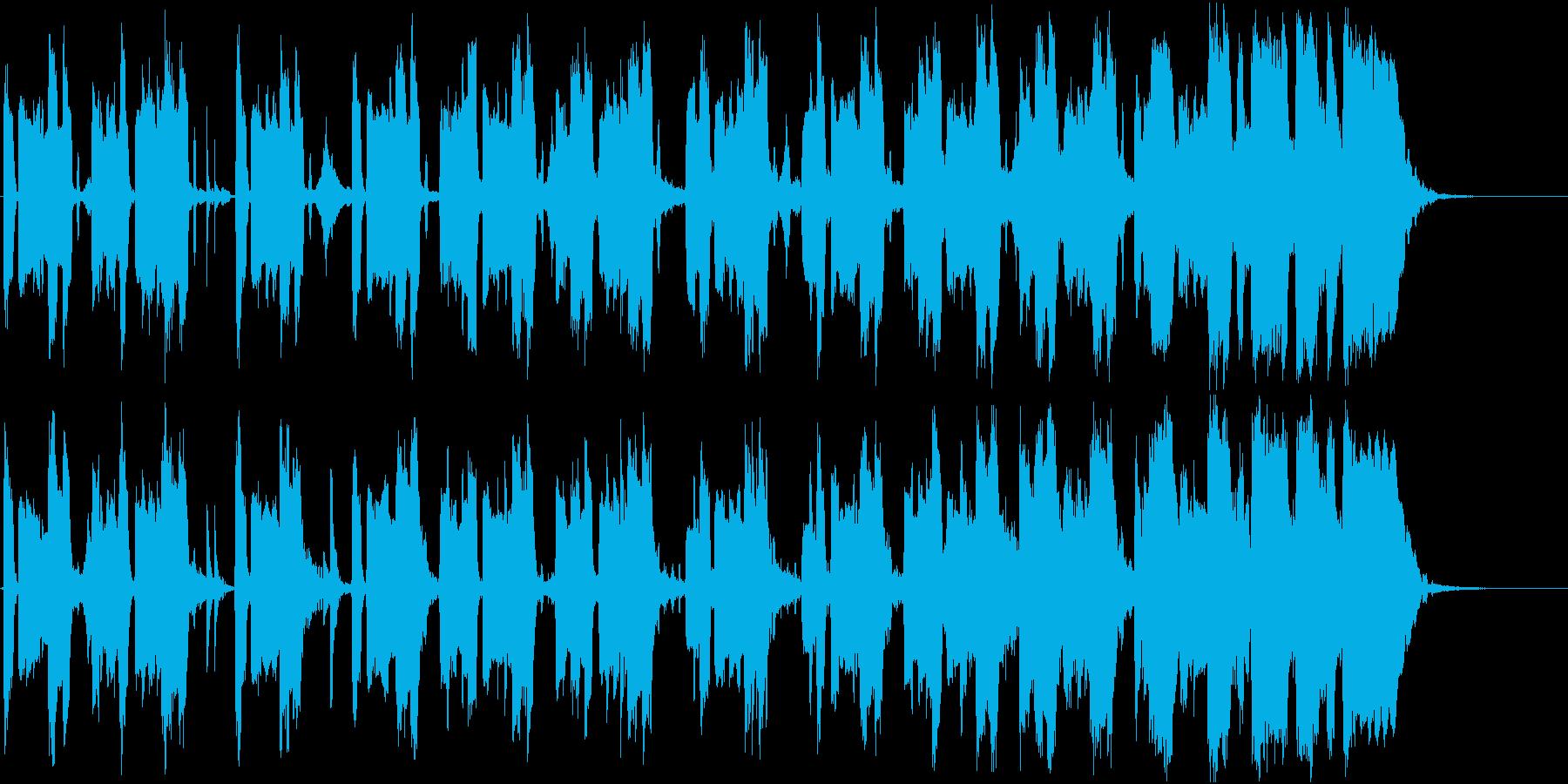 コミカルですっとぼけた、ほのぼの系劇伴の再生済みの波形