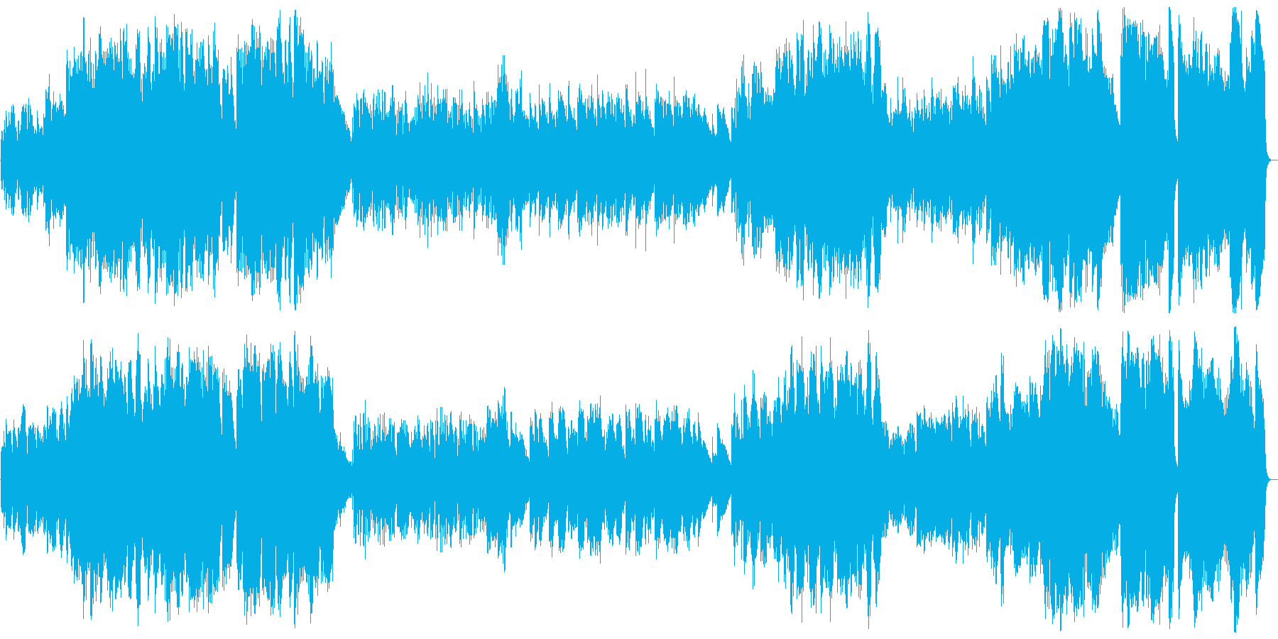 クラシカルで暗いピアノ曲の再生済みの波形