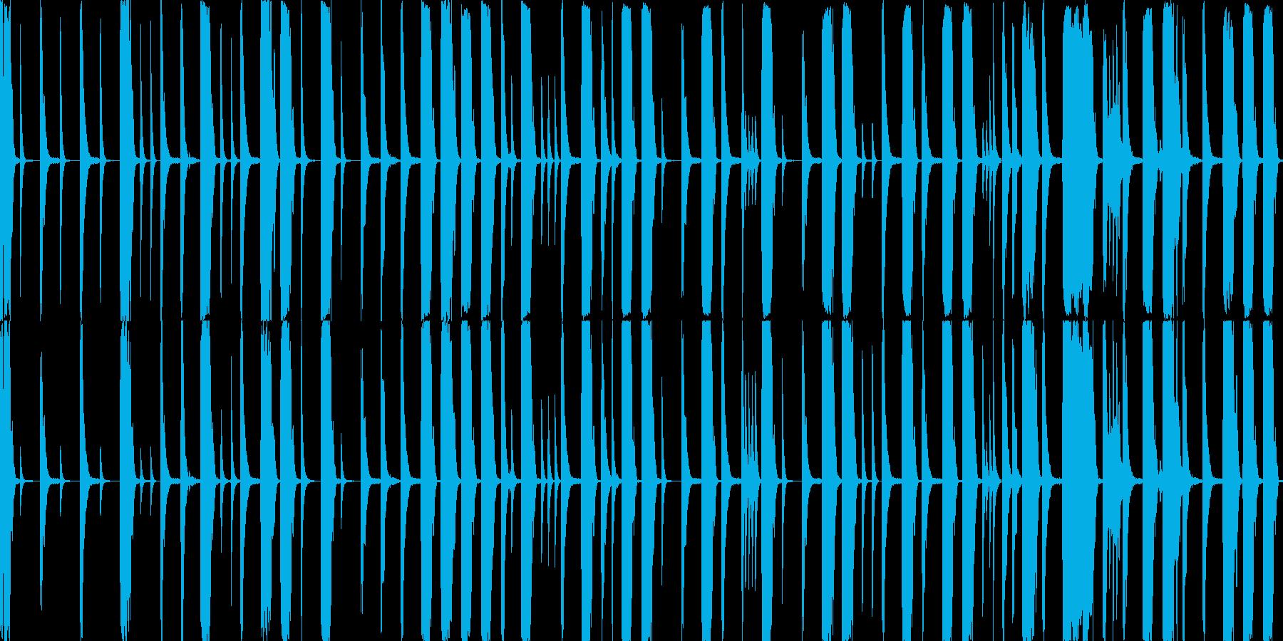 8小節のドラムループの再生済みの波形