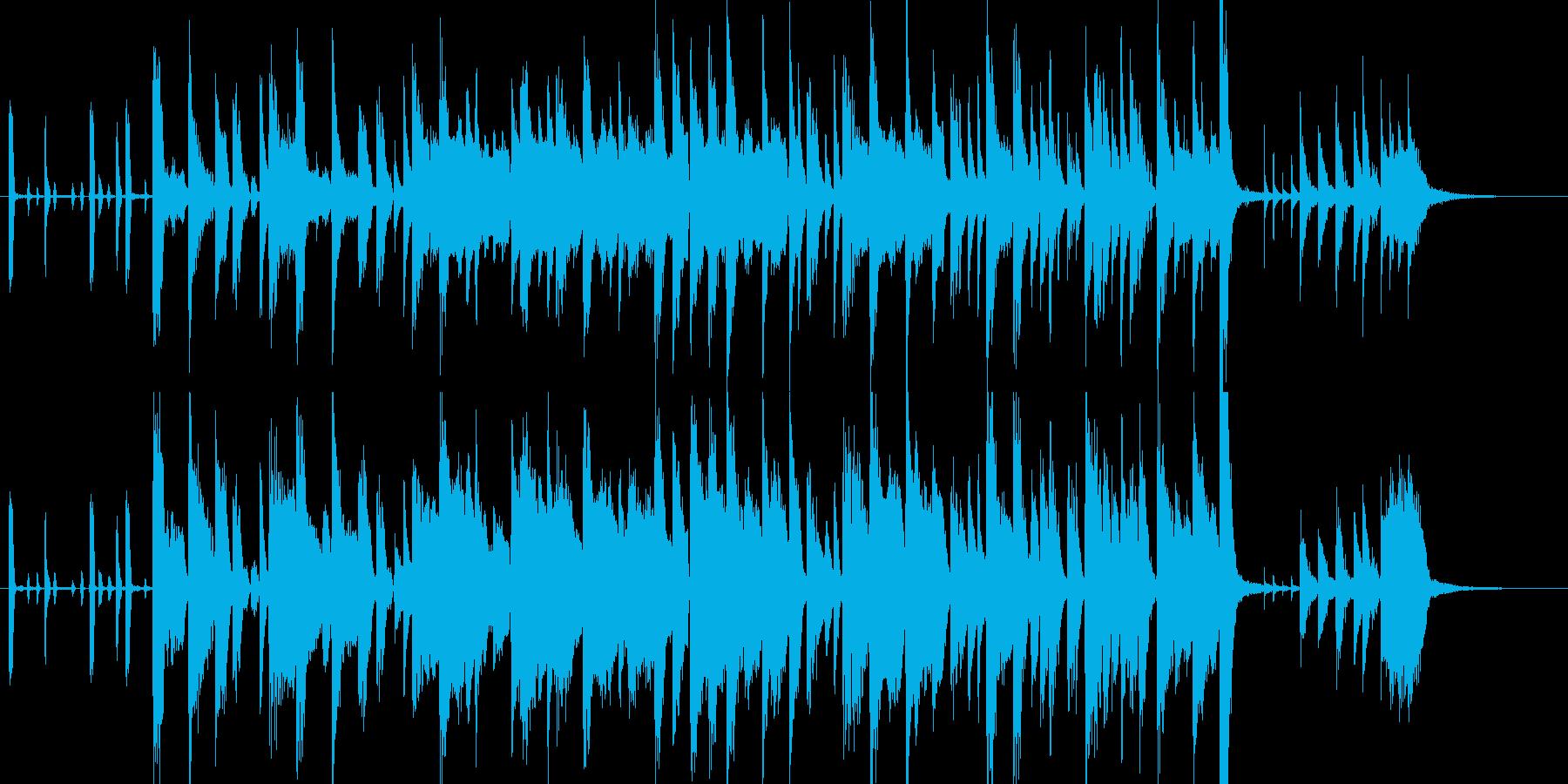 少し不思議でおどけた可愛いジングルの再生済みの波形