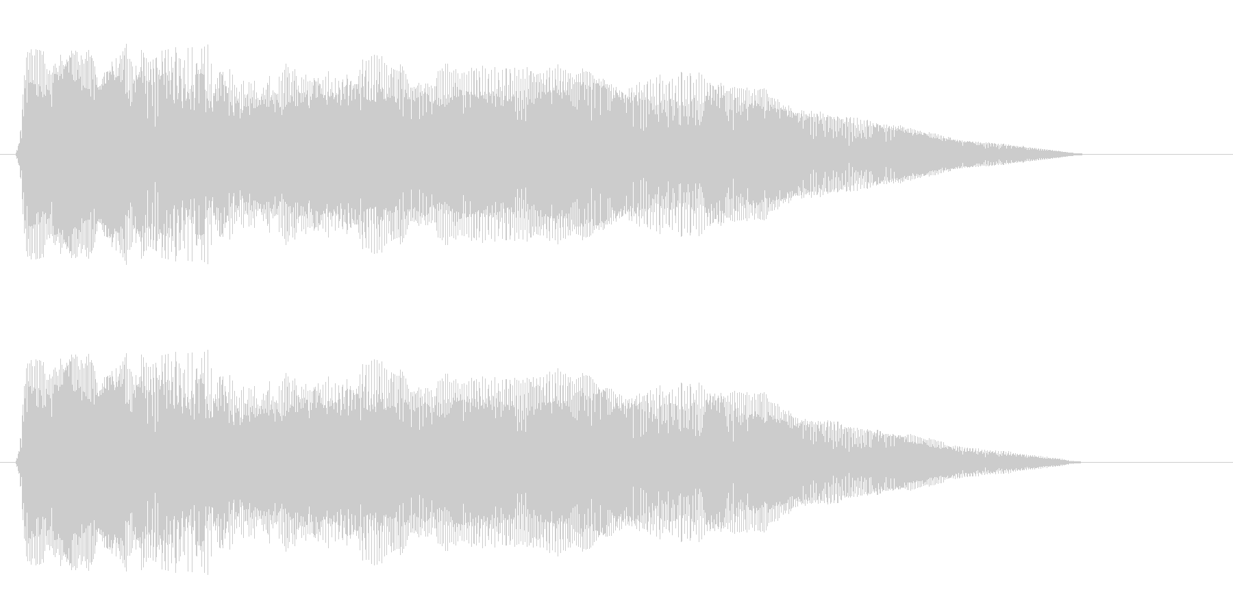 ピヨヨヨョ〜ン(速い)の未再生の波形