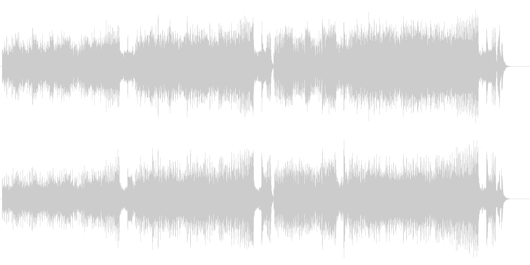 キャッチなメリーゴーラウンド風クラシックの未再生の波形