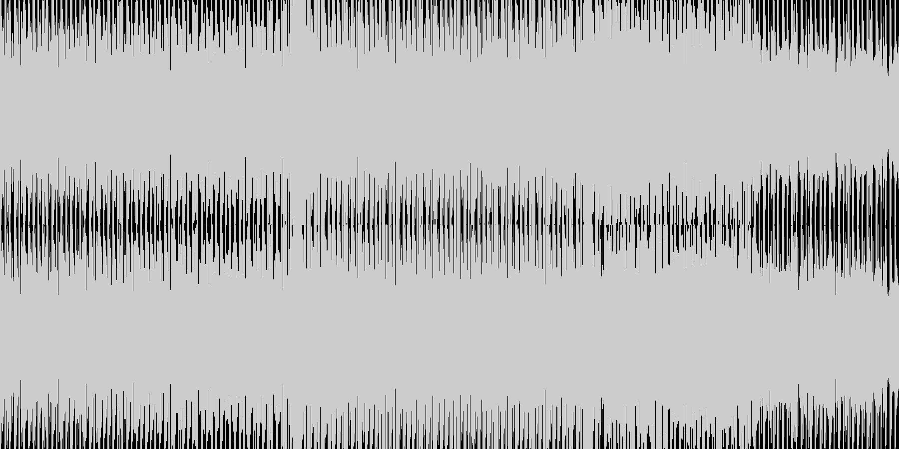 エレクトリカルなハイテンションBGMの未再生の波形