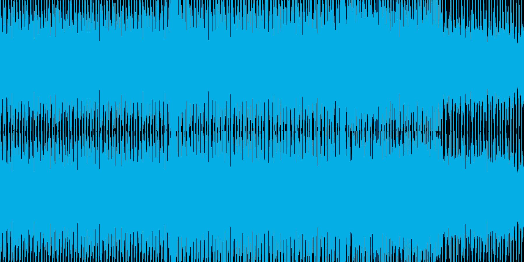 エレクトリカルなハイテンションBGMの再生済みの波形