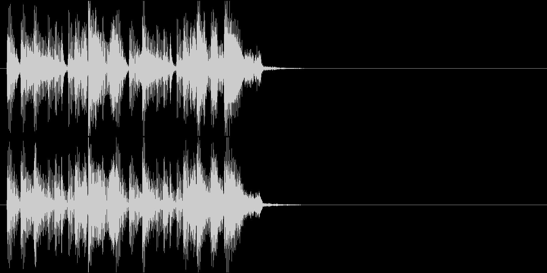 クールなジングルの未再生の波形