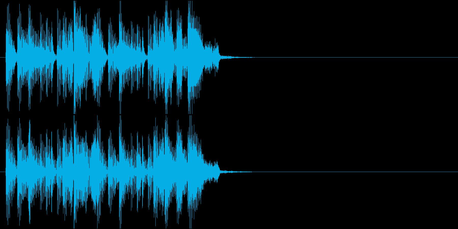クールなジングルの再生済みの波形