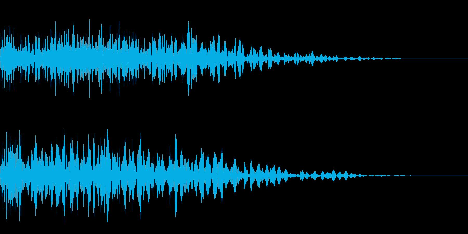 ドカン (爆発音)の再生済みの波形