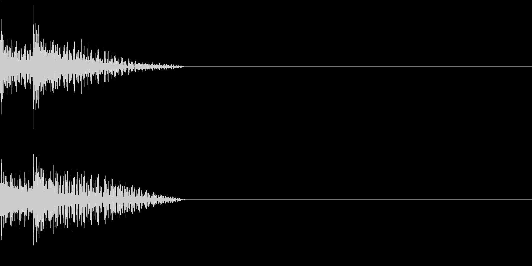 Cursor セレクト・カーソルの音7の未再生の波形