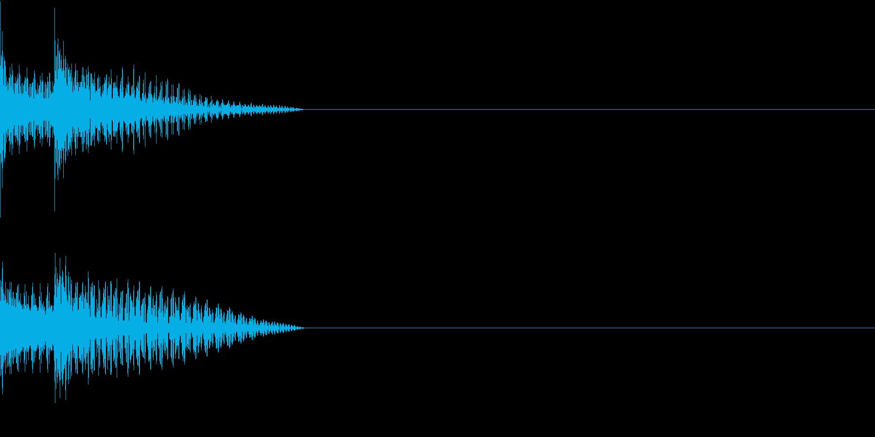 Cursor セレクト・カーソルの音7の再生済みの波形