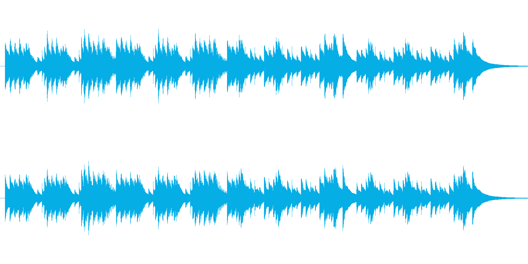 協奏曲集「四季」春 オルゴールの再生済みの波形