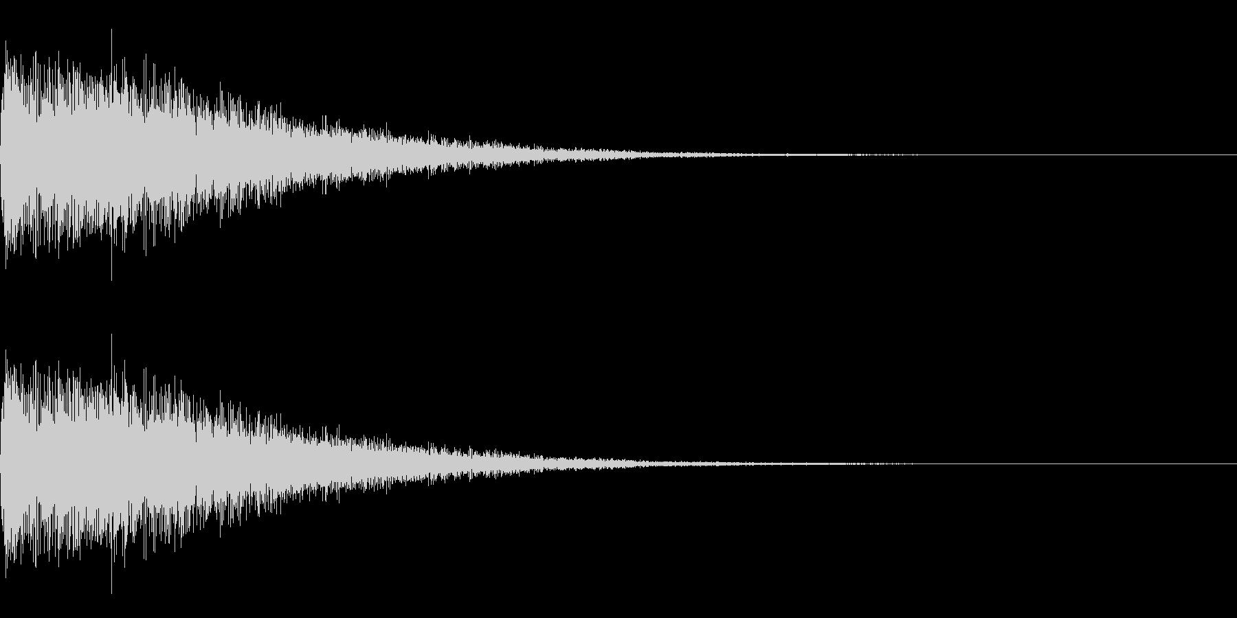 パワーアップ上昇音 シュワーンの未再生の波形