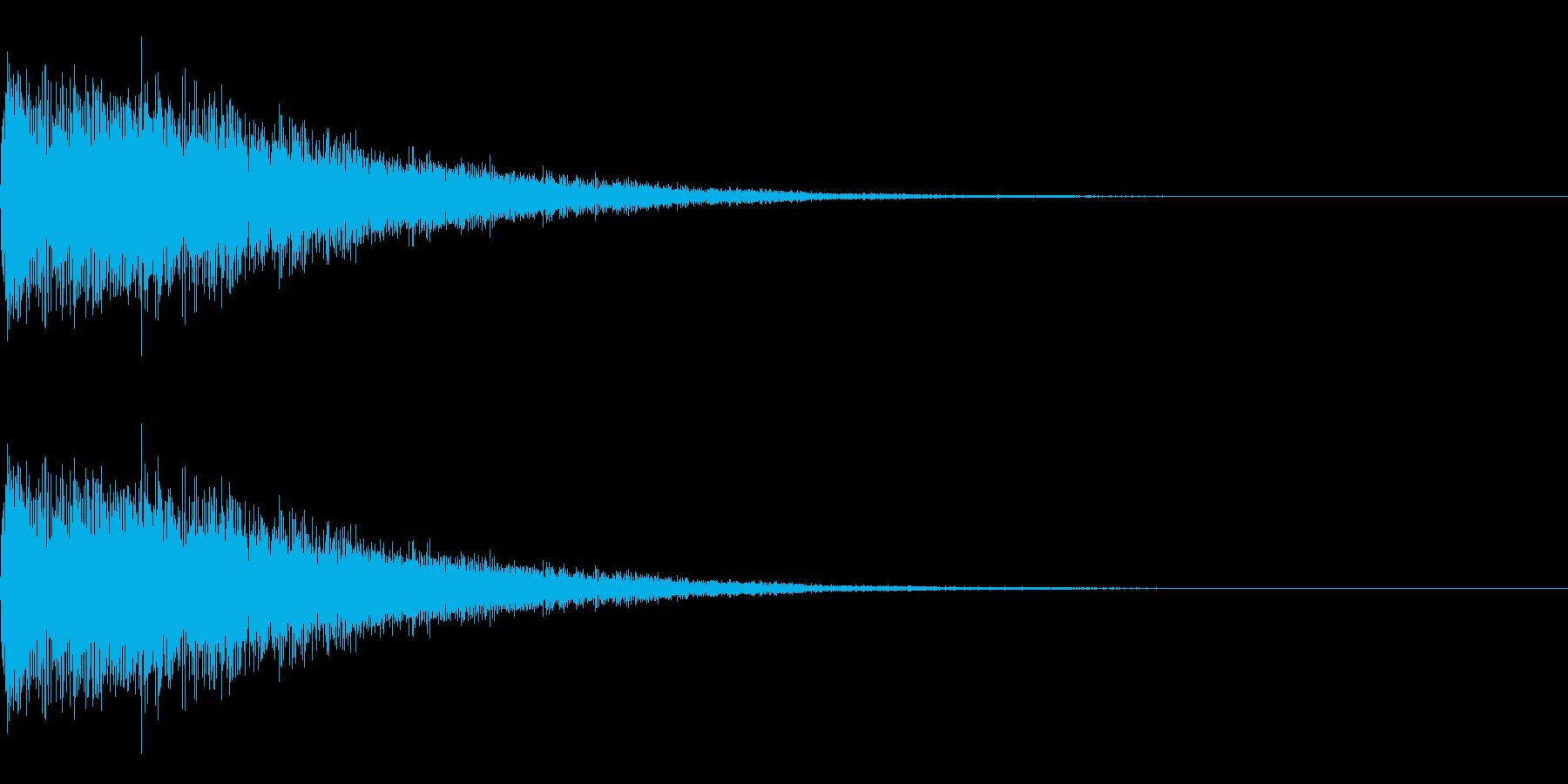 パワーアップ上昇音 シュワーンの再生済みの波形