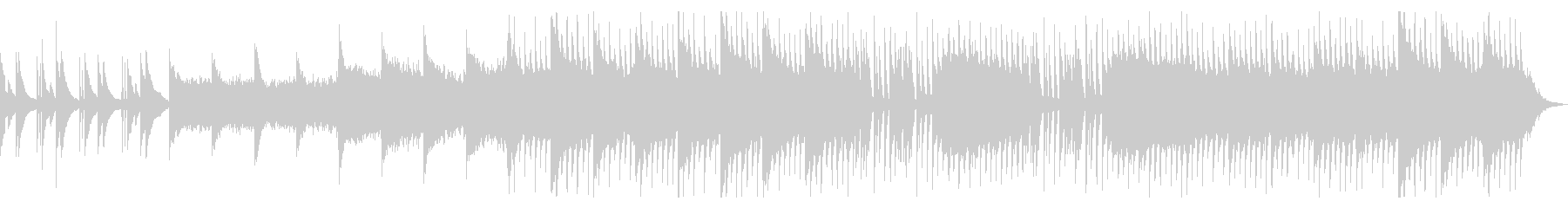 感動的かつアップテンポな曲の未再生の波形