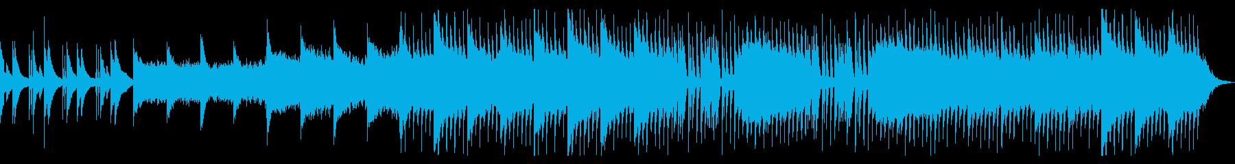 感動的かつアップテンポな曲の再生済みの波形