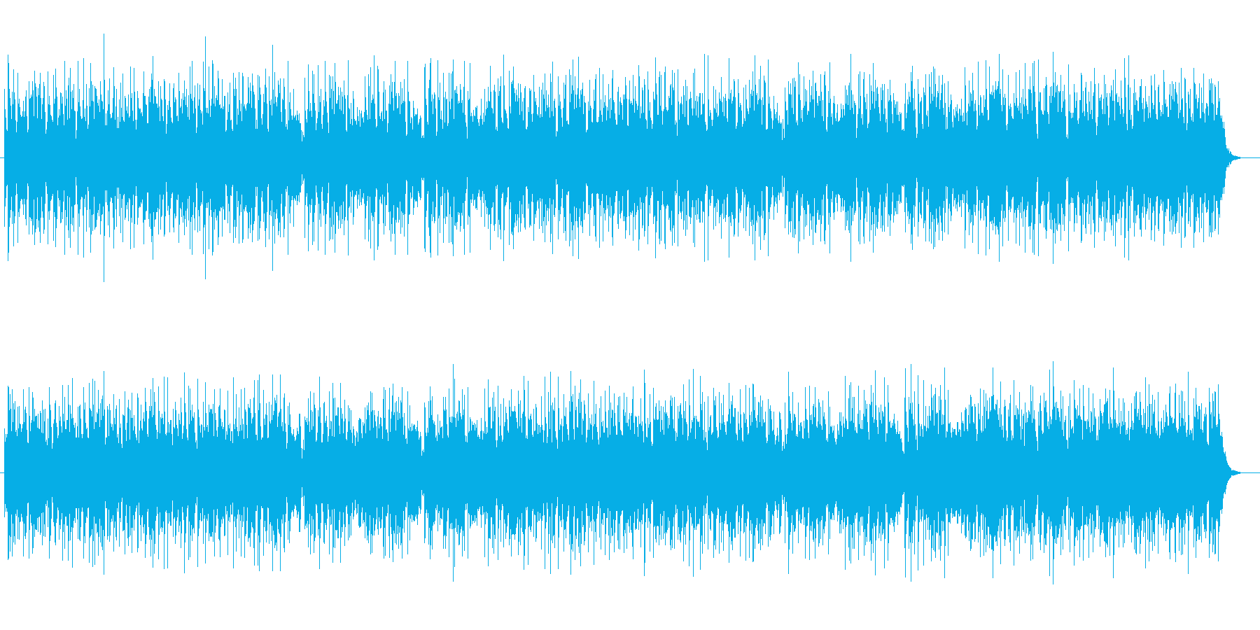 幻想的なスピリチュアルミュージックの再生済みの波形