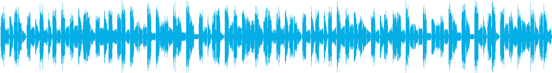 リズムを強調した淡々と伸びやかな楽曲の再生済みの波形