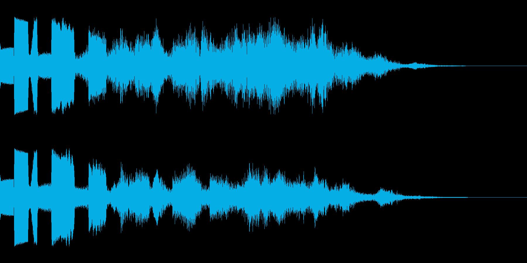ゲーム用:決定音「ピリリリン」の再生済みの波形