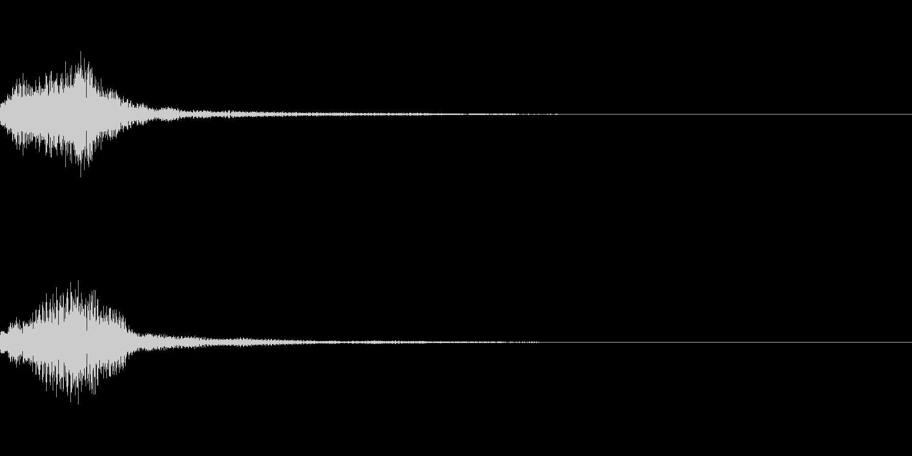 明るいサウンドロゴorRPGスタート音の未再生の波形