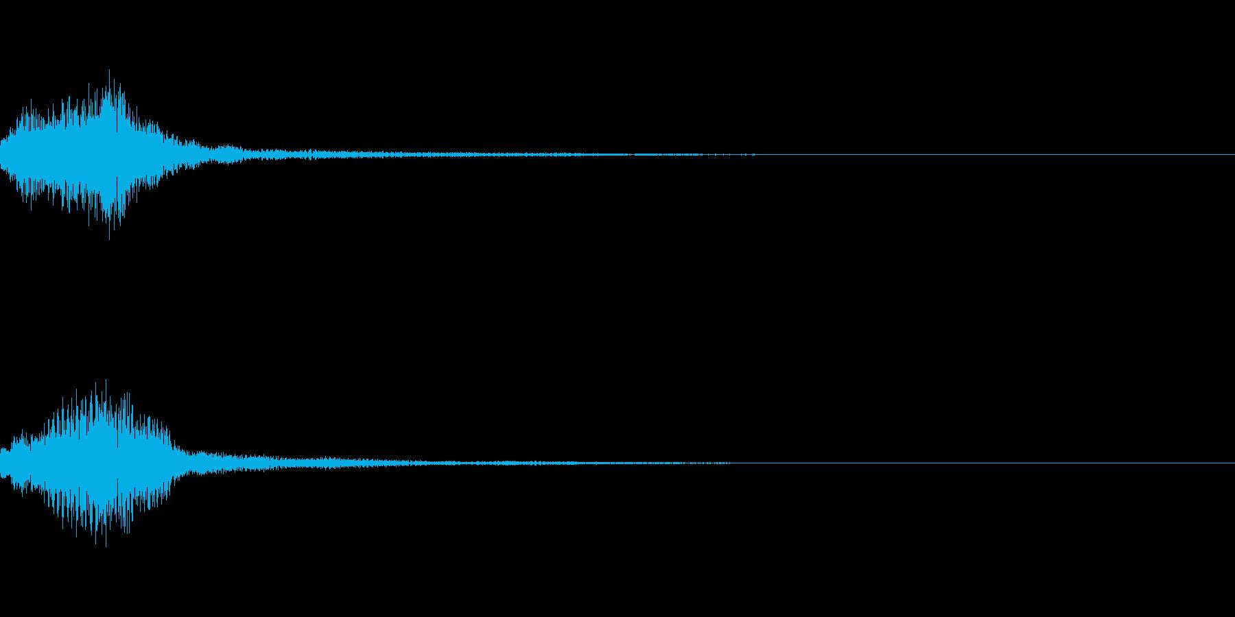 明るいサウンドロゴorRPGスタート音の再生済みの波形