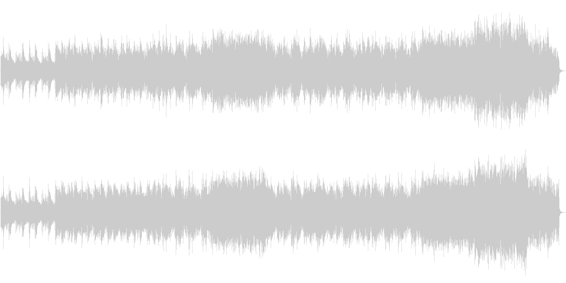 笛・箏など和楽器による切ないバラード曲の未再生の波形