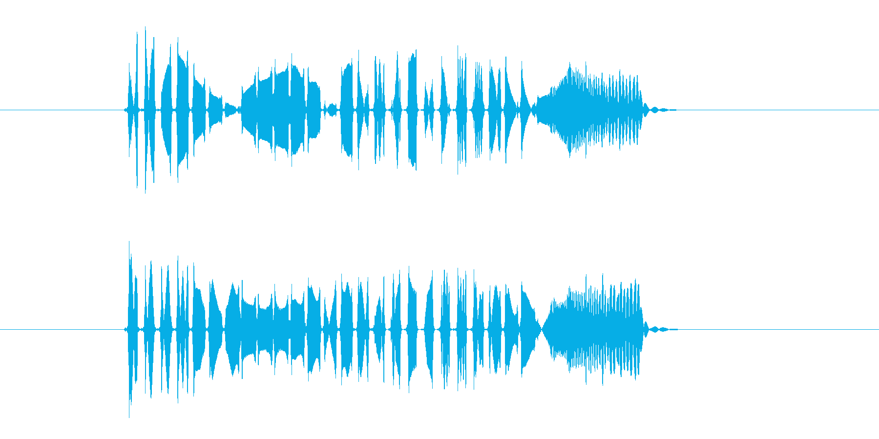 プロペラが回転する音(宇宙、飛ぶ)の再生済みの波形